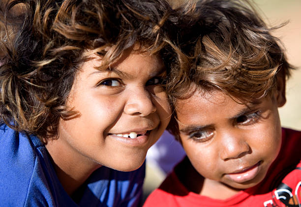 Indigenous kids in Outback Australia